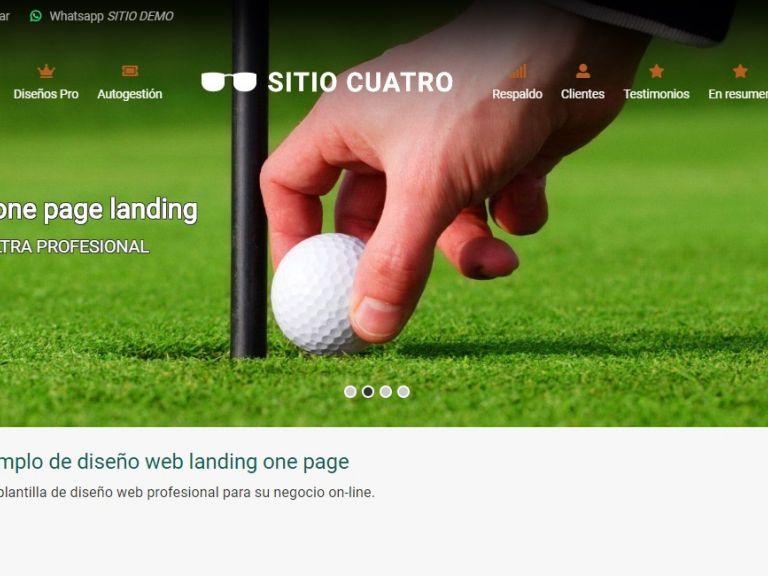 LANDING 4, Plantilla landing page, demo de diseño web